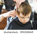 hairdresser shears scissors boy ... | Shutterstock . vector #594328469