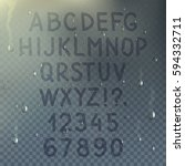 hand drawn transparent alphabet ...   Shutterstock .eps vector #594332711