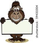 Gorrilla Holding Sign