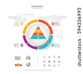 business infographic business... | Shutterstock .eps vector #594336995
