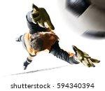 professional soccer goalkeeper...   Shutterstock . vector #594340394