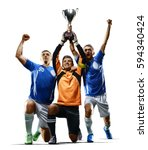 professional soccer players... | Shutterstock . vector #594340424