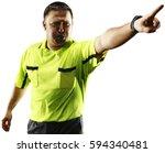 professional soccer referee... | Shutterstock . vector #594340481