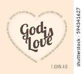 bible verse for evangelist and... | Shutterstock .eps vector #594341627