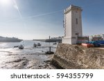 fishing port of saint gilles... | Shutterstock . vector #594355799