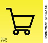 shopping cart icon. flat style... | Shutterstock .eps vector #594365531