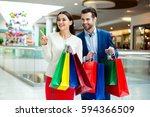 it's shopping and fun  time.... | Shutterstock . vector #594366509