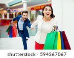 it's shopping and fun  time.... | Shutterstock . vector #594367067