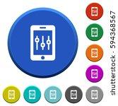smartphone tweaking round color ... | Shutterstock .eps vector #594368567