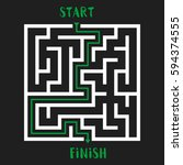 maze game with solution.... | Shutterstock .eps vector #594374555