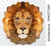 the muzzle lion vector... | Shutterstock .eps vector #594377369