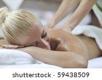 a pretty woman getting a... | Shutterstock . vector #59438509