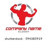 bodybuilder design | Shutterstock .eps vector #594385919