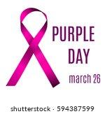 purple day march 26. vector... | Shutterstock .eps vector #594387599