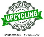 upcycling. stamp. sticker. seal.... | Shutterstock .eps vector #594388649