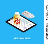 pharmacy recipe composition... | Shutterstock .eps vector #594388991