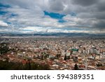 views of athens from the... | Shutterstock . vector #594389351