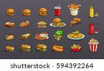 fastfood | Shutterstock .eps vector #594392264
