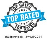 top rated. stamp. sticker. seal.... | Shutterstock .eps vector #594392294