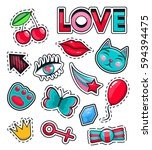 fashion icons collection set of ... | Shutterstock .eps vector #594394475