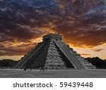 the temples of chichen itza... | Shutterstock . vector #59439448