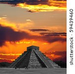 the temples of chichen itza... | Shutterstock . vector #59439460