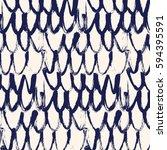 loops vector dry brush pattern. ... | Shutterstock .eps vector #594395591