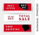 set of sale banners or website... | Shutterstock .eps vector #594402365