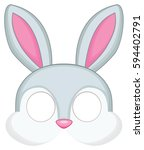 cartoon bunny mask for children ... | Shutterstock .eps vector #594402791