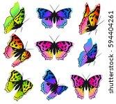 Beautiful Color Butterflies Se...