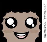 happy woman face   Shutterstock .eps vector #594407327