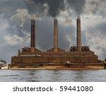 Old Brick Power Plant Pumps Ou...