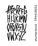 graphic font for your design.... | Shutterstock .eps vector #594418031