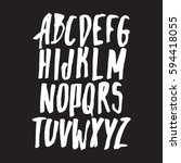 graphic font for your design.... | Shutterstock .eps vector #594418055