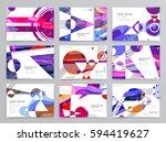 colorful geometric brochure... | Shutterstock .eps vector #594419627