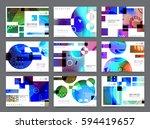 colorful geometric brochure... | Shutterstock .eps vector #594419657