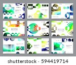 colorful geometric brochure... | Shutterstock .eps vector #594419714
