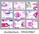 colorful geometric brochure... | Shutterstock .eps vector #594419867