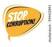 stop corruption retro speech... | Shutterstock .eps vector #594425891