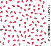 strawberry seamless pattern on... | Shutterstock .eps vector #594429089