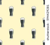 beer glass pattern seamless...   Shutterstock .eps vector #594429281