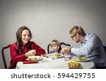 eating healthy food | Shutterstock . vector #594429755