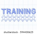 training hand drawn text and... | Shutterstock . vector #594430625