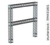 steel truss girder element... | Shutterstock . vector #594431801