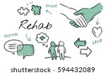 mental health care sketch... | Shutterstock . vector #594432089