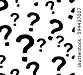 seamless monochrome pattern...   Shutterstock .eps vector #594437027