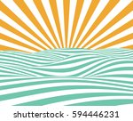 abstract vector summer... | Shutterstock .eps vector #594446231
