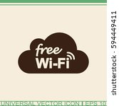 free wi fi vector icon. network ...   Shutterstock .eps vector #594449411