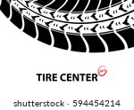 tire shop and service background | Shutterstock . vector #594454214