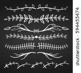 set of floral design element.... | Shutterstock .eps vector #594455474